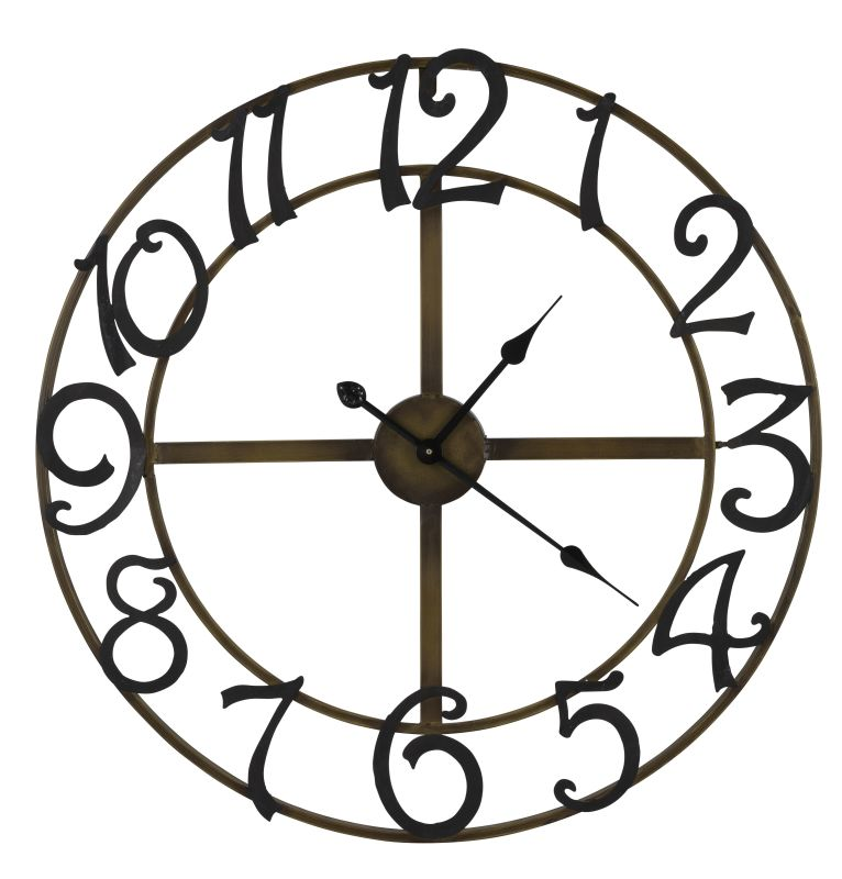 "Cooper Classics 40377 La Salle 27.5"" X 27.5"" Wall Clock Gold and Black"