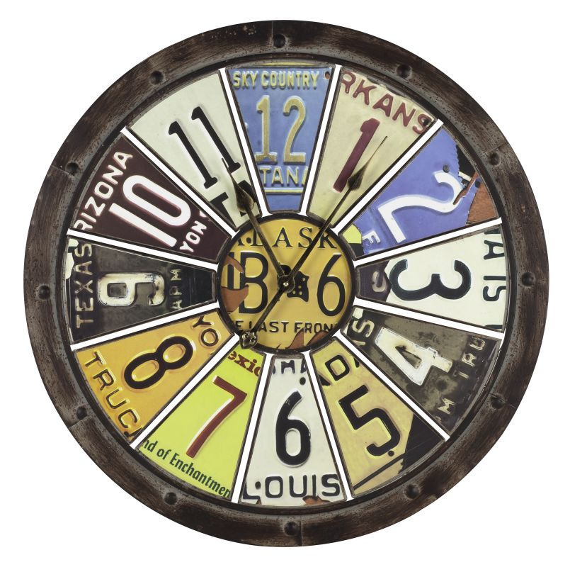 "Cooper Classics 40386 Hildale 27"" X 27"" Wall Clock Distressed Brown"