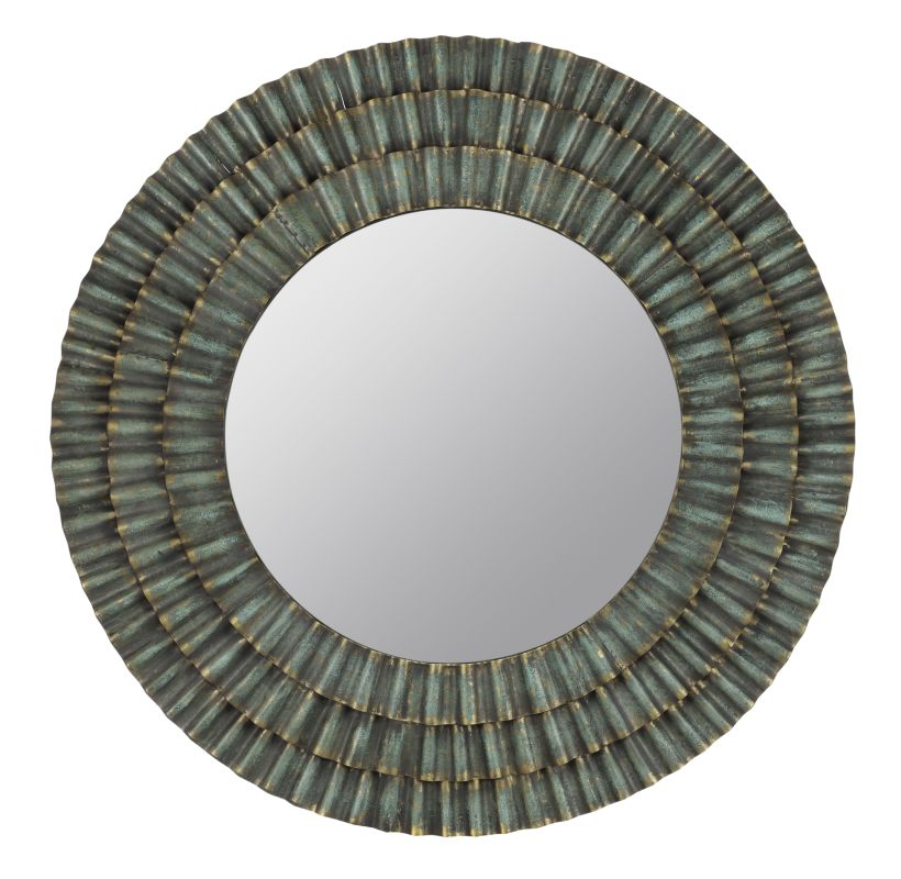 "Cooper Classics 40394 Dupont 41"" X 41"" Round Wall Mirror Metal"