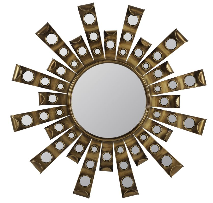 "Cooper Classics 40403 Constance 28"" X 28"" Wall Mirror Antique Gold"