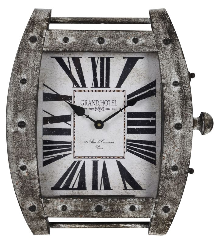 "Cooper Classics 40407 Eton 17.25"" X 15.5"" Wall Clock Metal Distressed"
