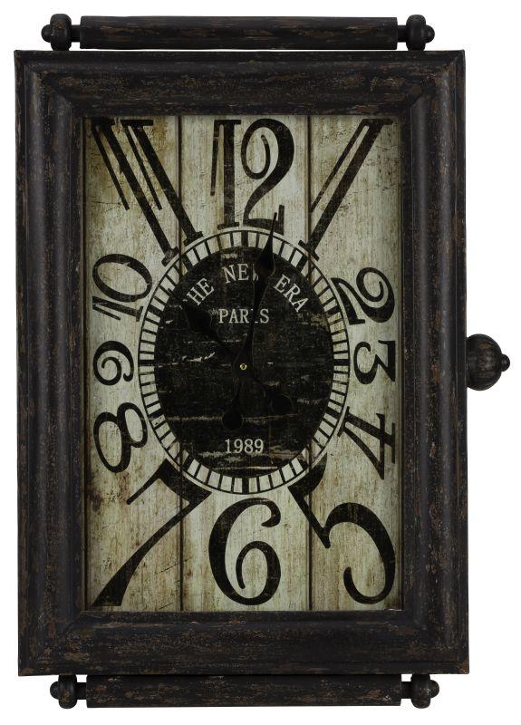 "Cooper Classics 40435 Charest 29.5"" X 21"" Wall Clock Aged Black Home"