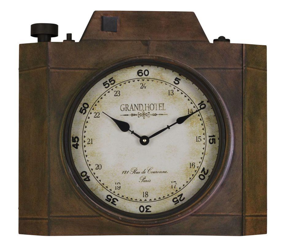 "Cooper Classics 40438 Valerian 18.5"" X 16.25"" Wall Clock Aged Bronze"