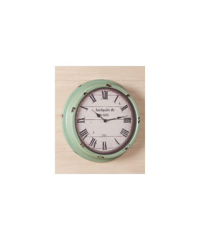 "Cooper Classics 40439 Anthea 16.75"" X 16.75"" Wall Clock Aged Sea Green"