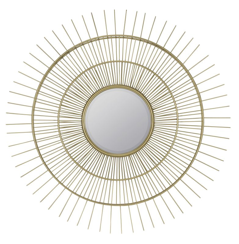"Cooper Classics 40440 Marcade 36.25"" X 36.25"" Round Wall Mirror Muted"