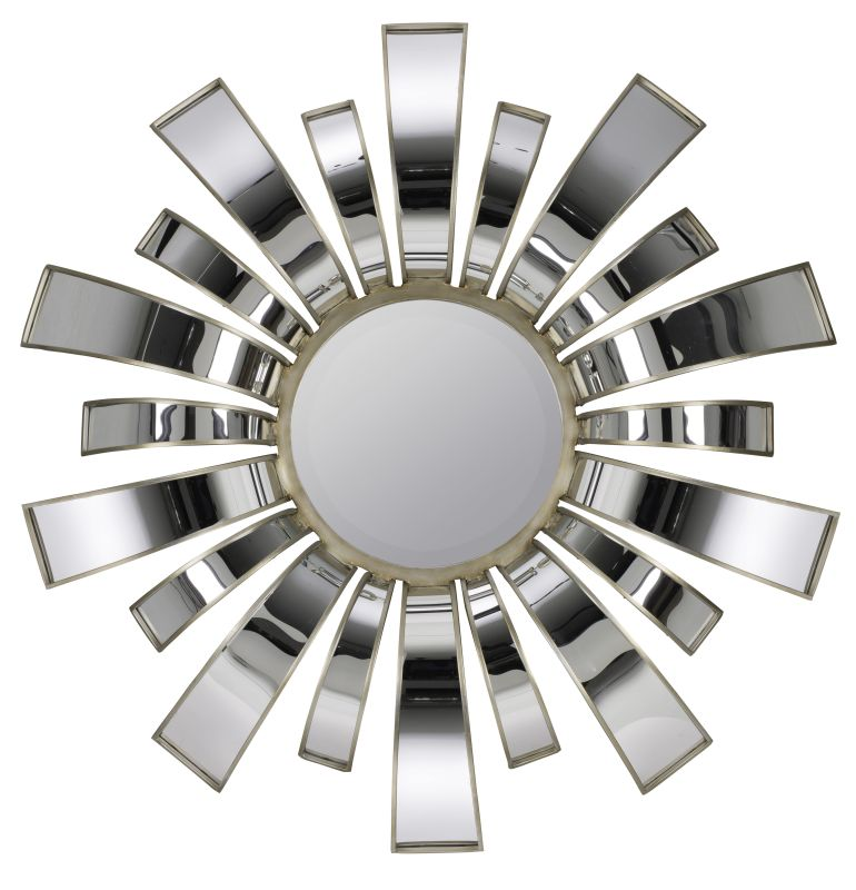 "Cooper Classics 40489 Teasel 44.25"" X 44.25"" Wall Mirror Aged Silver"