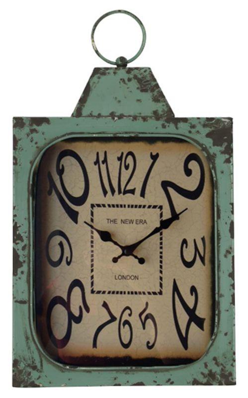 "Cooper Classics 40545 Stasia 19"" X 11"" Wall Clock Aged Green Home"