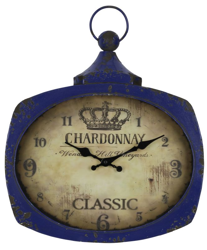 "Cooper Classics 40546 Galina 17"" X 14"" Wall Clock Aged Blue Home Decor"