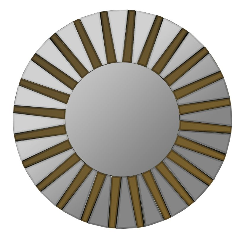 """Cooper Classics 40574 Emele 36"""" X 36"""" Round Wall Mirror Aged Gold Home"""