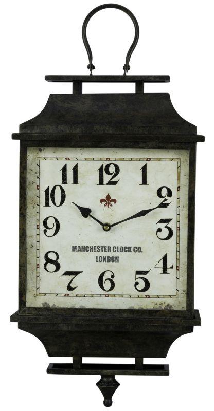 """Cooper Classics 40601 Kimmel 26"""" X 11.5"""" Wall Clock Aged Dark Gray"""