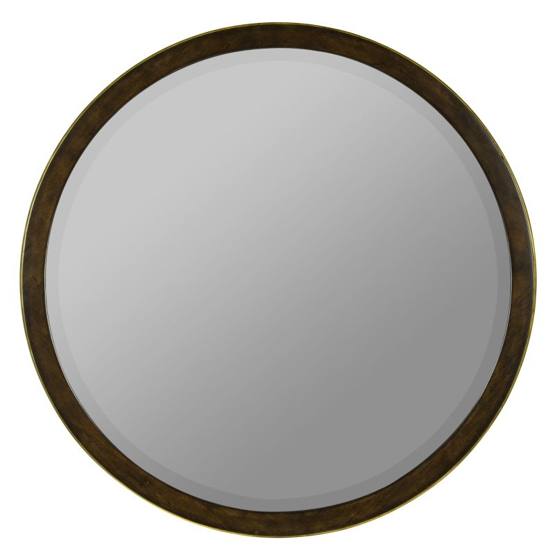 "Cooper Classics 40617 Daniel 34"" X 34"" Round Wall Mirror Medium Brown"
