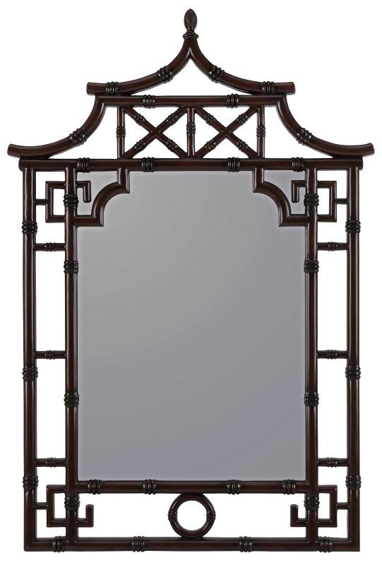 """Cooper Classics 40644 Maya 42"""" X 28.25"""" Wall Mirror Mahogany Home"""