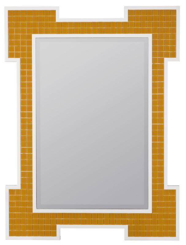 """Cooper Classics 40650 Captiva 40"""" X 30"""" Wall Mirror Orange Home Decor"""