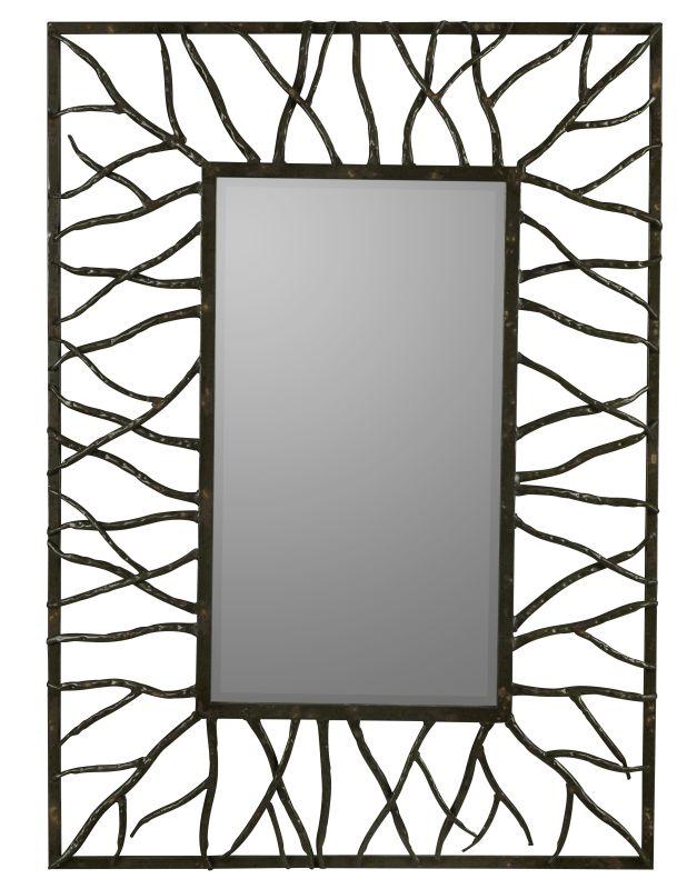 "Cooper Classics 40687 Aysel 43"" X 31"" Wall Mirror Aged Brown Metal"