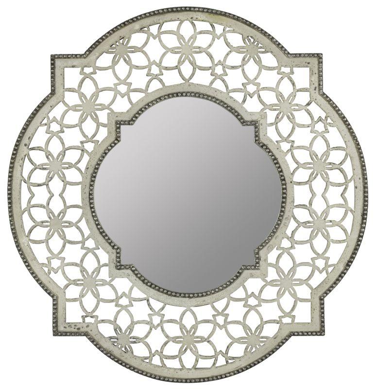 "Cooper Classics 40698 Clarkson 32"" X 32"" Wall Mirror Antique White"