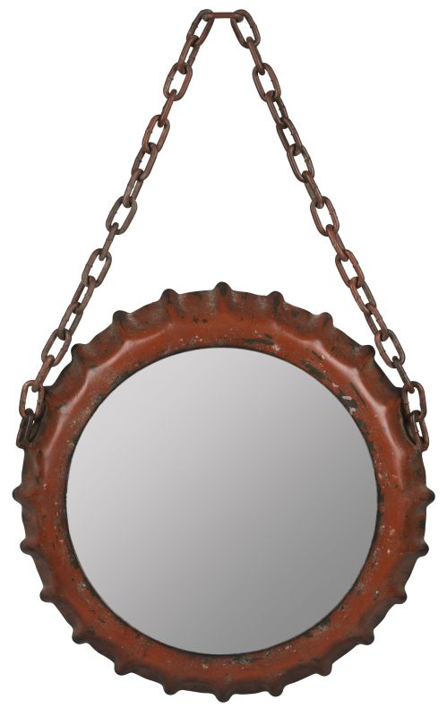 "Cooper Classics 40700 Emerson 22.25"" X 14"" Wall Mirror Aged Red Home"
