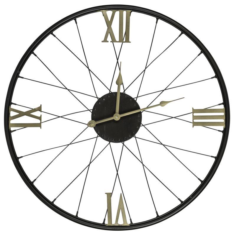 """Cooper Classics 40713 Dedon 21"""" X 21"""" Wall Clock Black Home Decor Wall"""
