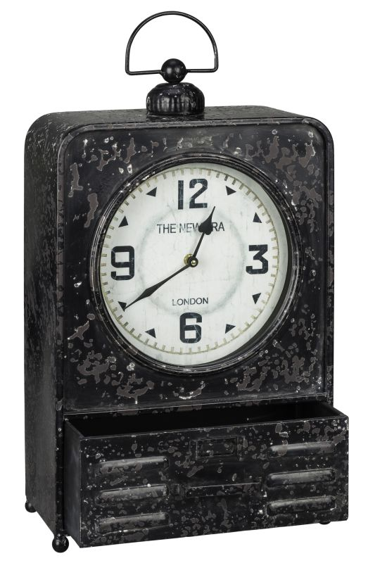 "Cooper Classics 40719 Patton 23.75"" X 13"" Desk Clock Worn Black Home"