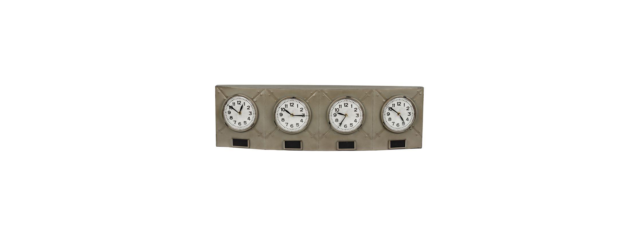 """Cooper Classics 40723 Terminal 10.5"""" X 35.25"""" Wall Clock Gray Metal"""