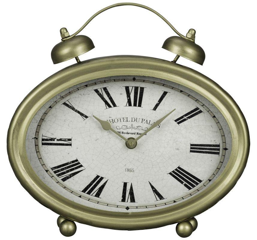 """Cooper Classics 40728 Welsley 11.5"""" X 11"""" Desk Clock Gold Home Decor"""