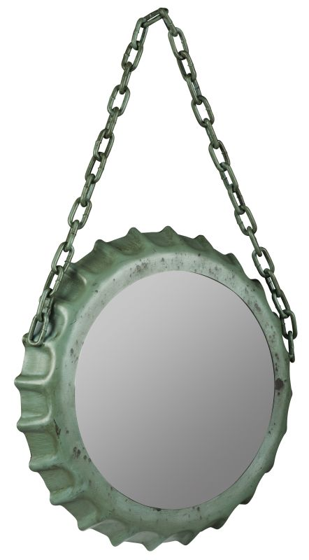 "Cooper Classics 40800 Kaya 22.25""H X 14"" Mirror Aged Sea Green Home"