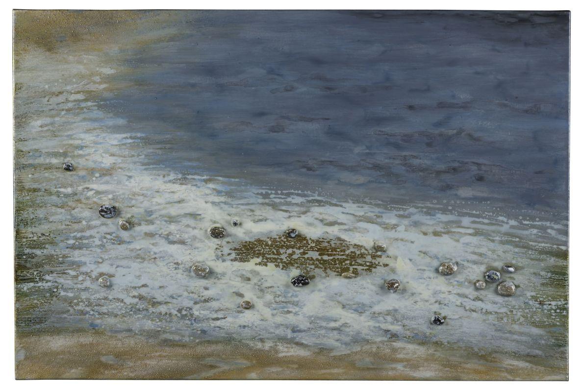 """Cooper Classics 40818 Pebbled Beach 24"""" X 36"""" Canvas Art Blues /"""