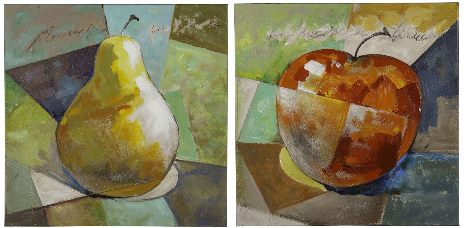 "Cooper Classics 40822 Fresh Fruit 30"" X 30"" Canvas Art - Set of 2"