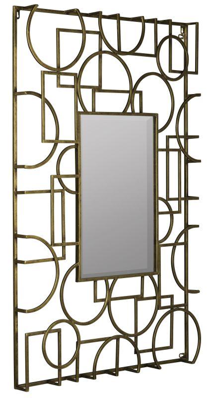 "Cooper Classics 40841 Kami 44""H X 29"" Mirror Antique Gold Home Decor"