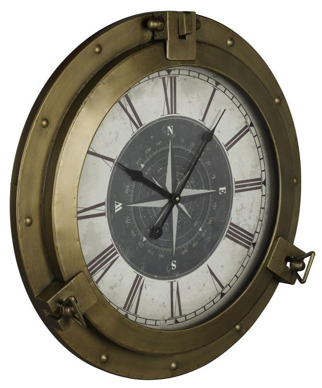 "Cooper Classics 40859 Celestyn 21.5""H X 21.5"" Clock Bronze Home Decor"