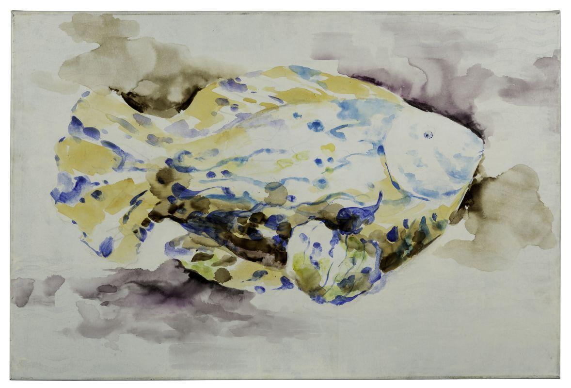 """Cooper Classics 40867 Blue Fish 36"""" X 24"""" Canvas Art Blues / Neutrals"""