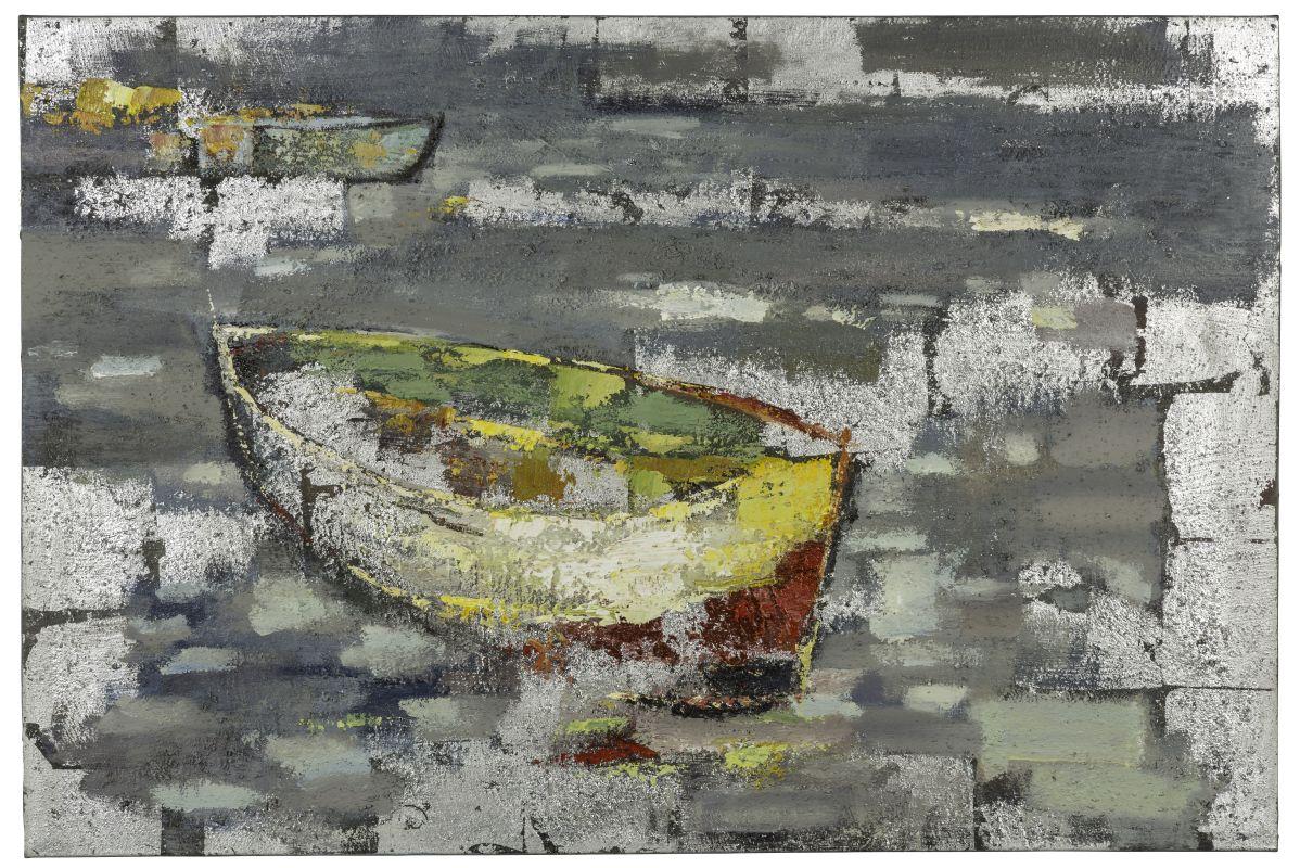 """Cooper Classics 40881 Boat II 31"""" X 47"""" Canvas Art Neutrals Home Decor"""