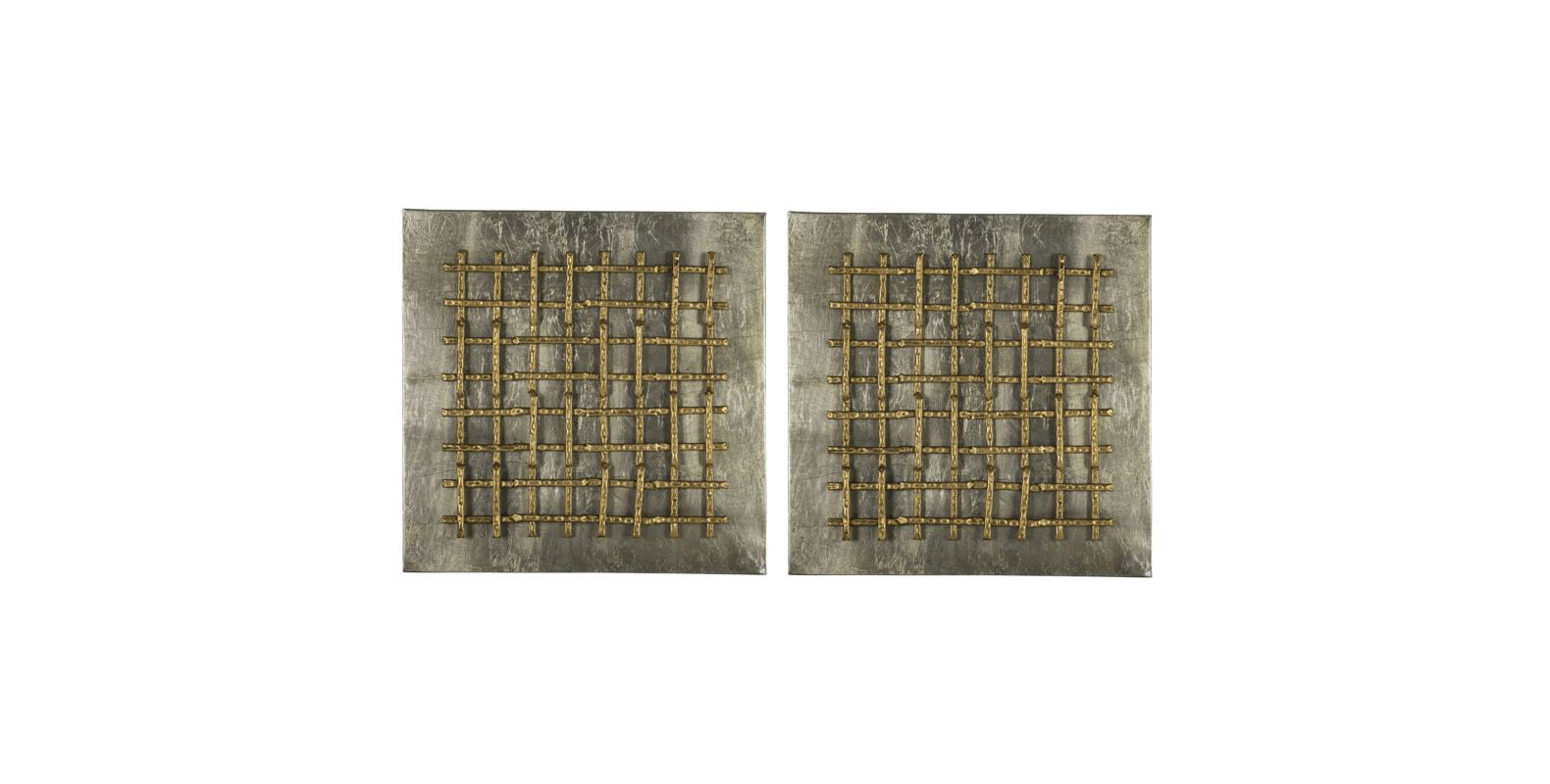 "Cooper Classics 40889 Garrett 25"" X 25"" Wall Art (Set of 2) Aged"