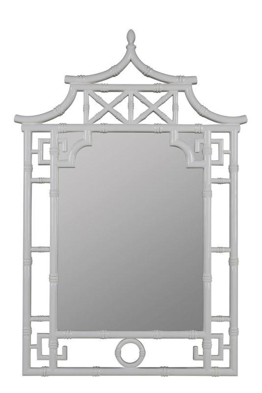 "Cooper Classics 40913 Shing 50"" X 36"" Mirror Glossy White Home Decor"