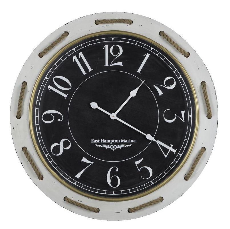 "Cooper Classics 40916 Hatteras 37"" X 37"" Clock Distressed Cream Home"