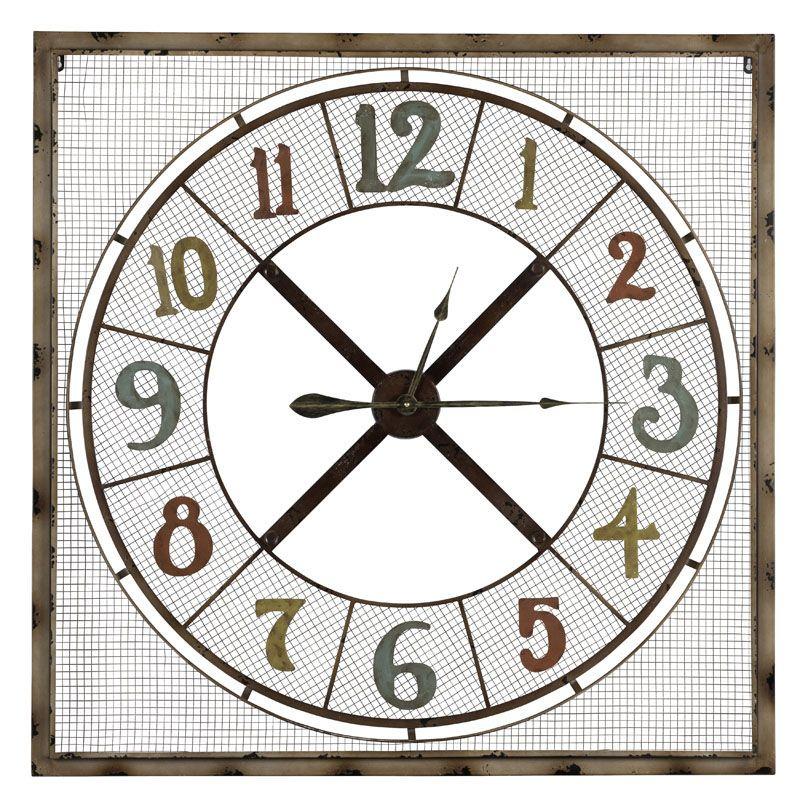 "Cooper Classics 40922 Maxwell 45"" X 45"" Clock Light Brown Home Decor"