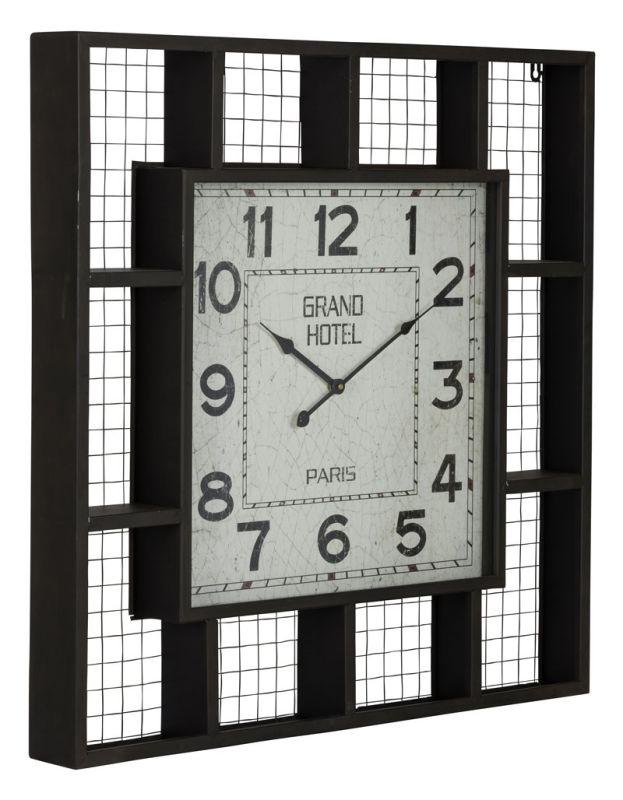 "Cooper Classics 40932 Brianne 33"" X 33"" Clock Matte Black Home Decor"