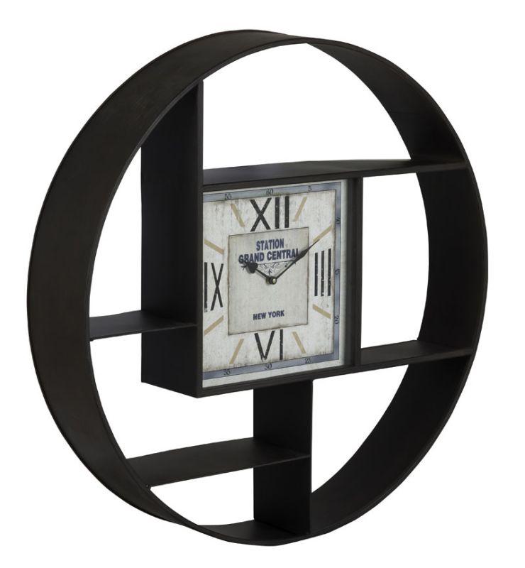 """Cooper Classics 40935 Bethany 35"""" X 35"""" Clock Black Metal Home Decor"""
