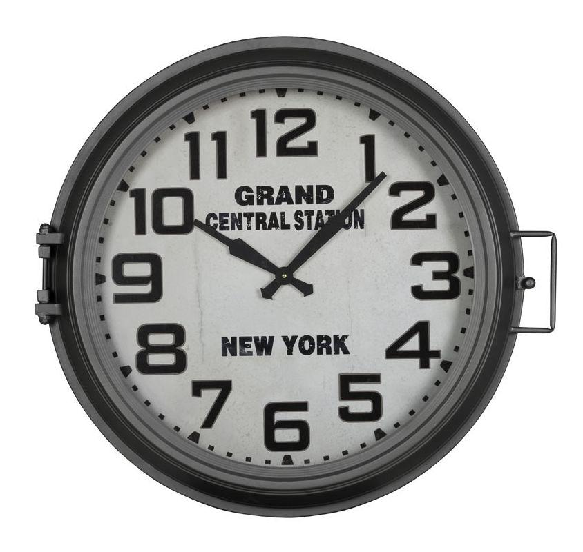 """Cooper Classics 40936 Kendra 35"""" X 35"""" Clock Grey Metal Home Decor"""