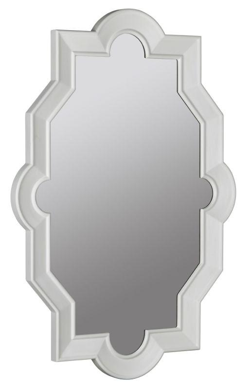 """Cooper Classics 40964 Bronte 52"""" X 38"""" Mirror Glossy White Home Decor"""