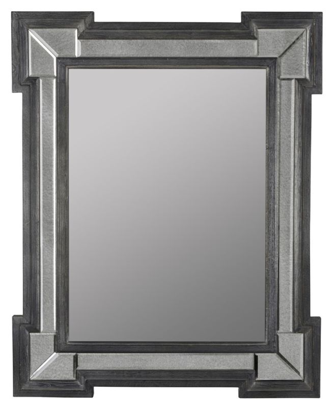 """Cooper Classics 40979 Hailey 46"""" X 37"""" Mirror Grey Washed Home Decor"""