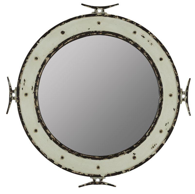 "Cooper Classics 41008 Nautical 28"" X 27"" Mirror Distressed Cream Home"