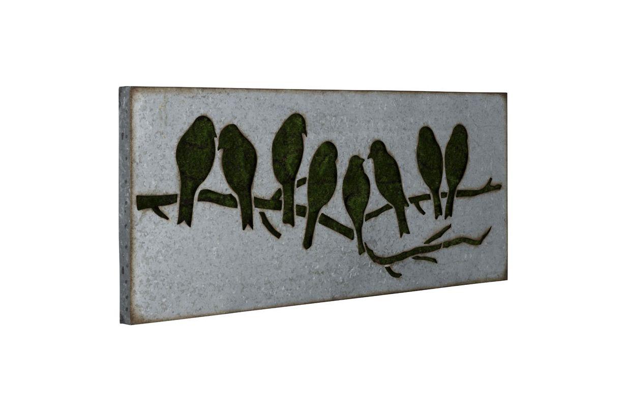 """Cooper Classics 41015 Sparrow 39"""" X 18"""" Wall Art I Galvanized Metal"""
