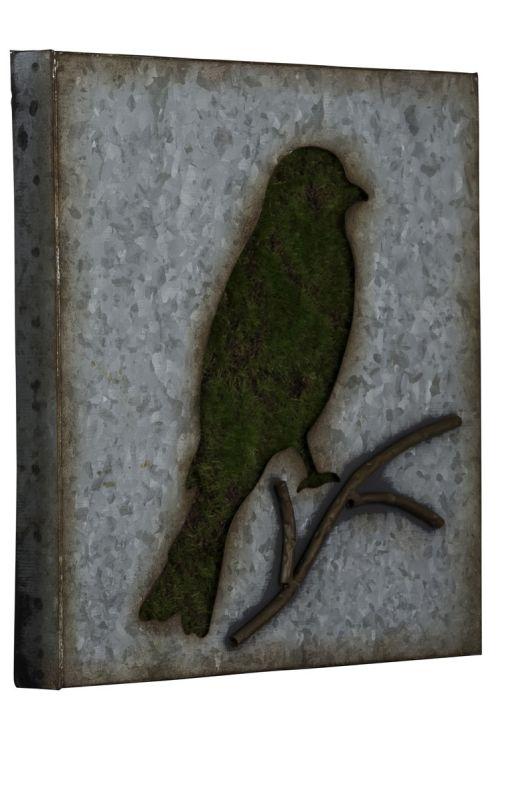 "Cooper Classics 41018 Sparrow 30"" X 17"" Wall Art II Galvanized Metal"