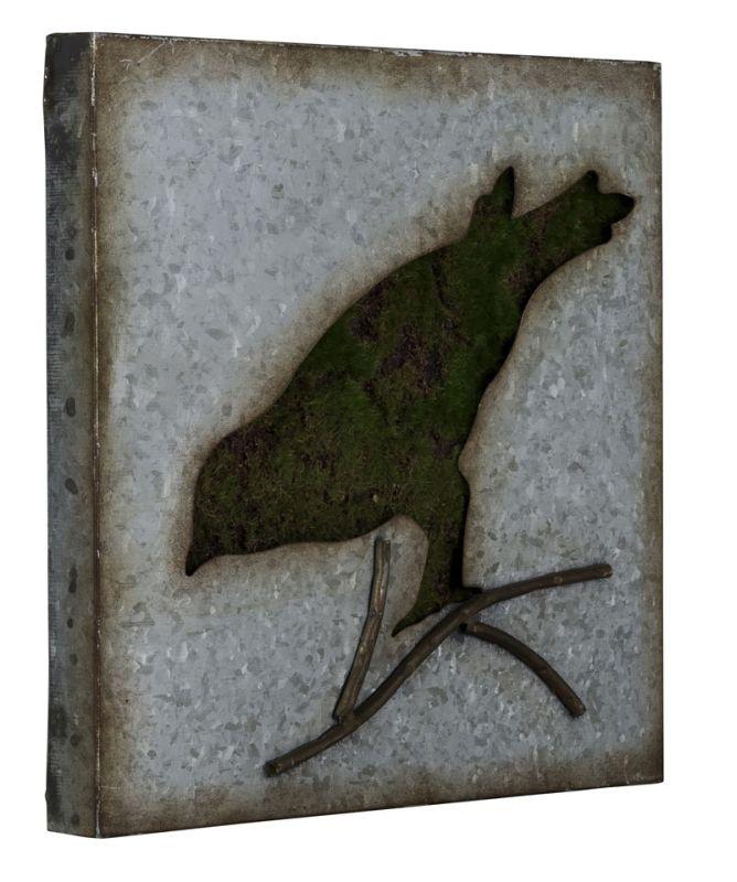 "Cooper Classics 41019 Sparrow 30"" X 17"" Wall Art III Galvanized Metal"