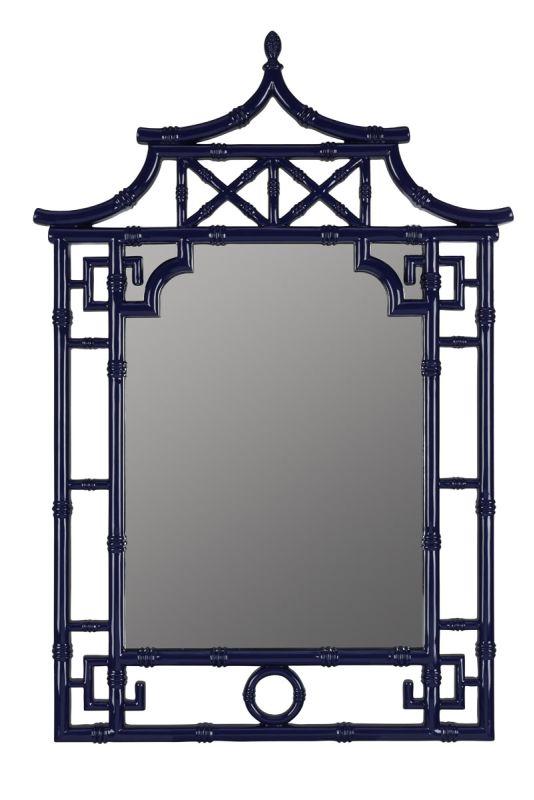 "Cooper Classics 41032 Pinlo 42"" X 28.25"" Mirror Lacquered Cobalt Home"
