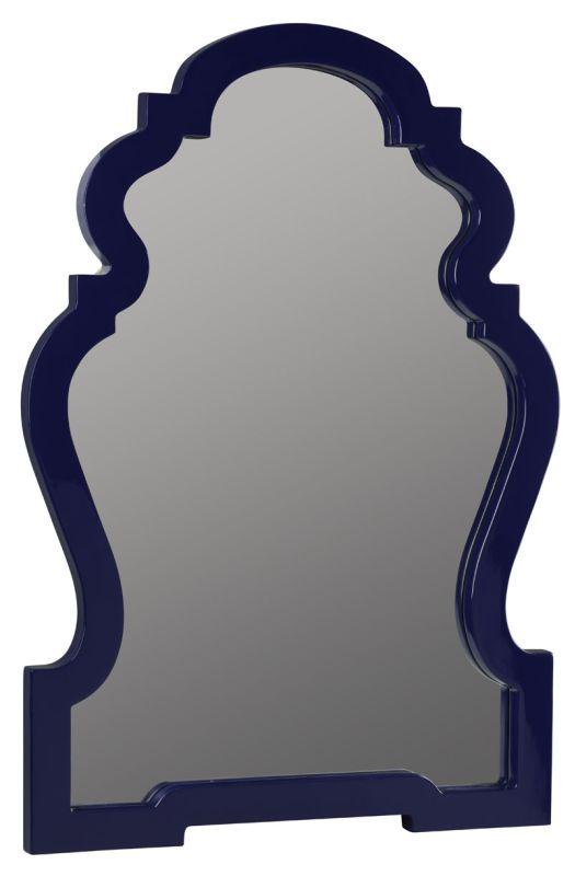 """Cooper Classics 41033 Reba 38"""" X 26"""" Mirror Lacquered Cobalt Home"""