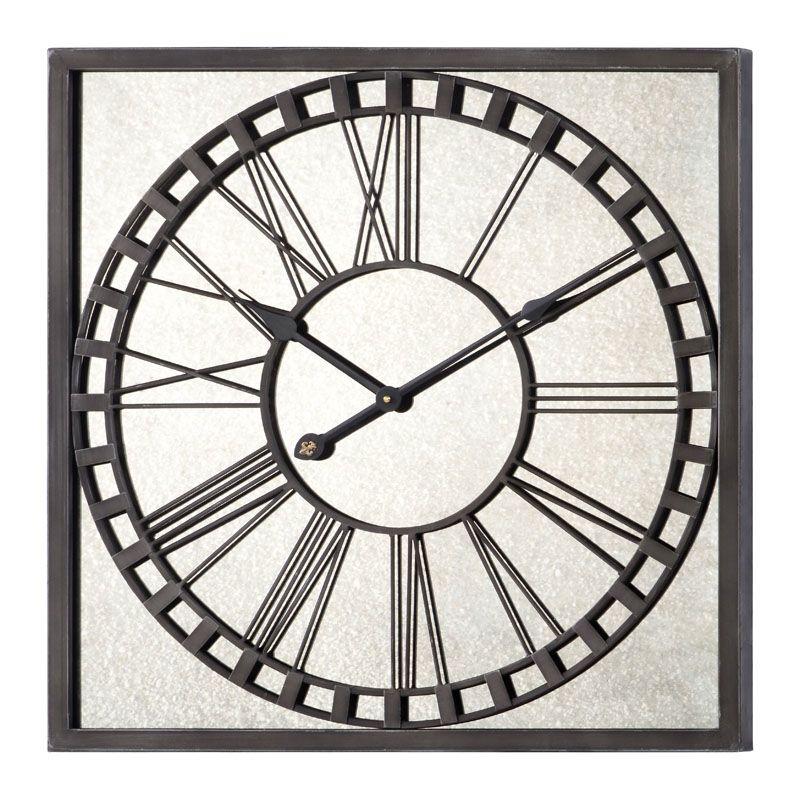 """Cooper Classics 41044 Lydia 25"""" X 25"""" Wall Clock Gray Metal Home Decor"""