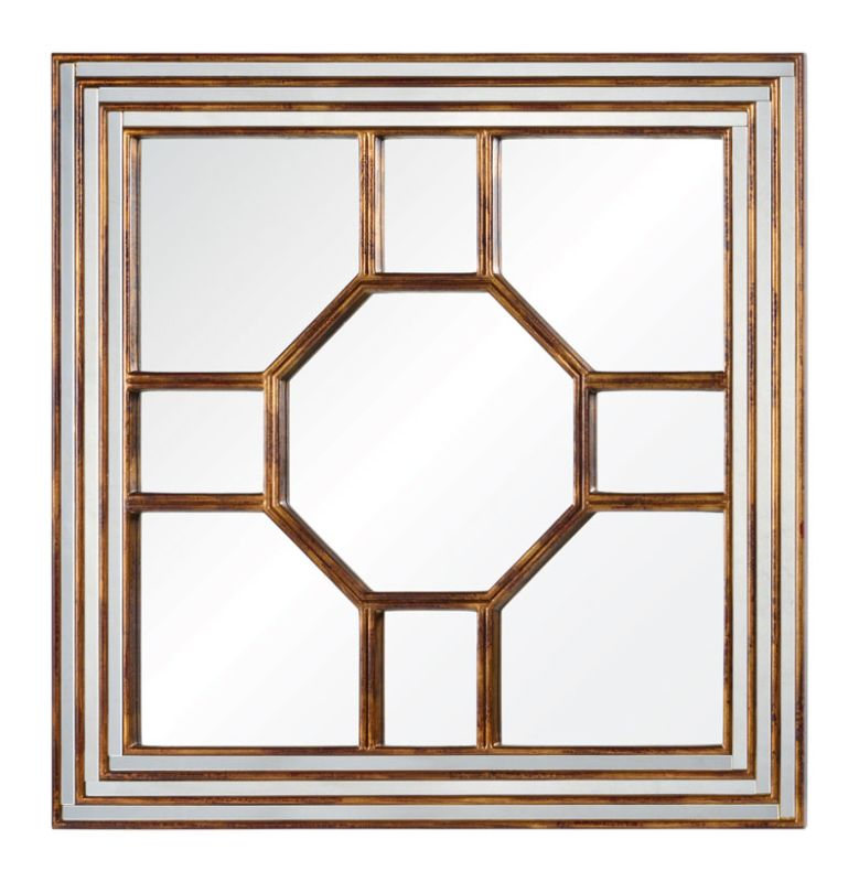 "Cooper Classics 41059 Arabella 40"" X 40"" Mirror Antiqued Gold Home"
