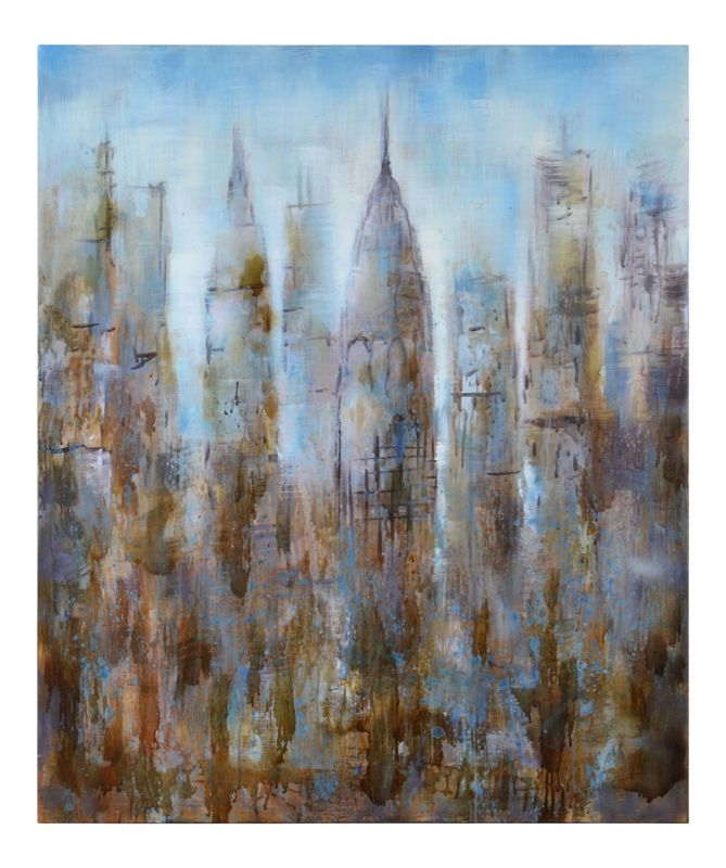 """Cooper Classics 41071 Skyline 43"""" X 35.75"""" Painting Hand Painted Home"""