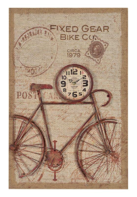 """Cooper Classics 41081 Nixon 30"""" X 20"""" Wall Clock Printed Burlap Home"""
